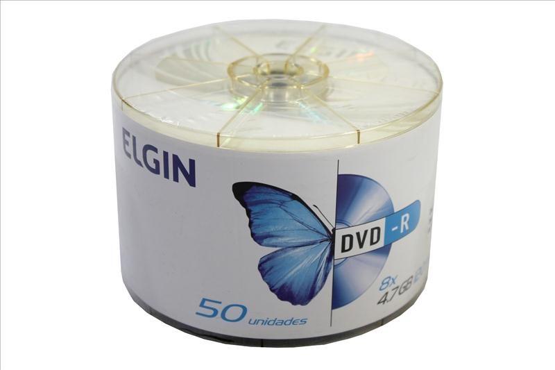 PDSHOP - PARANA DISTRIBUIDORA DE BRINQUEDOS LTDA - DVD-R 4.7 GB.120 MIN.8 X ELGIN TUBO C/50 ELGIN