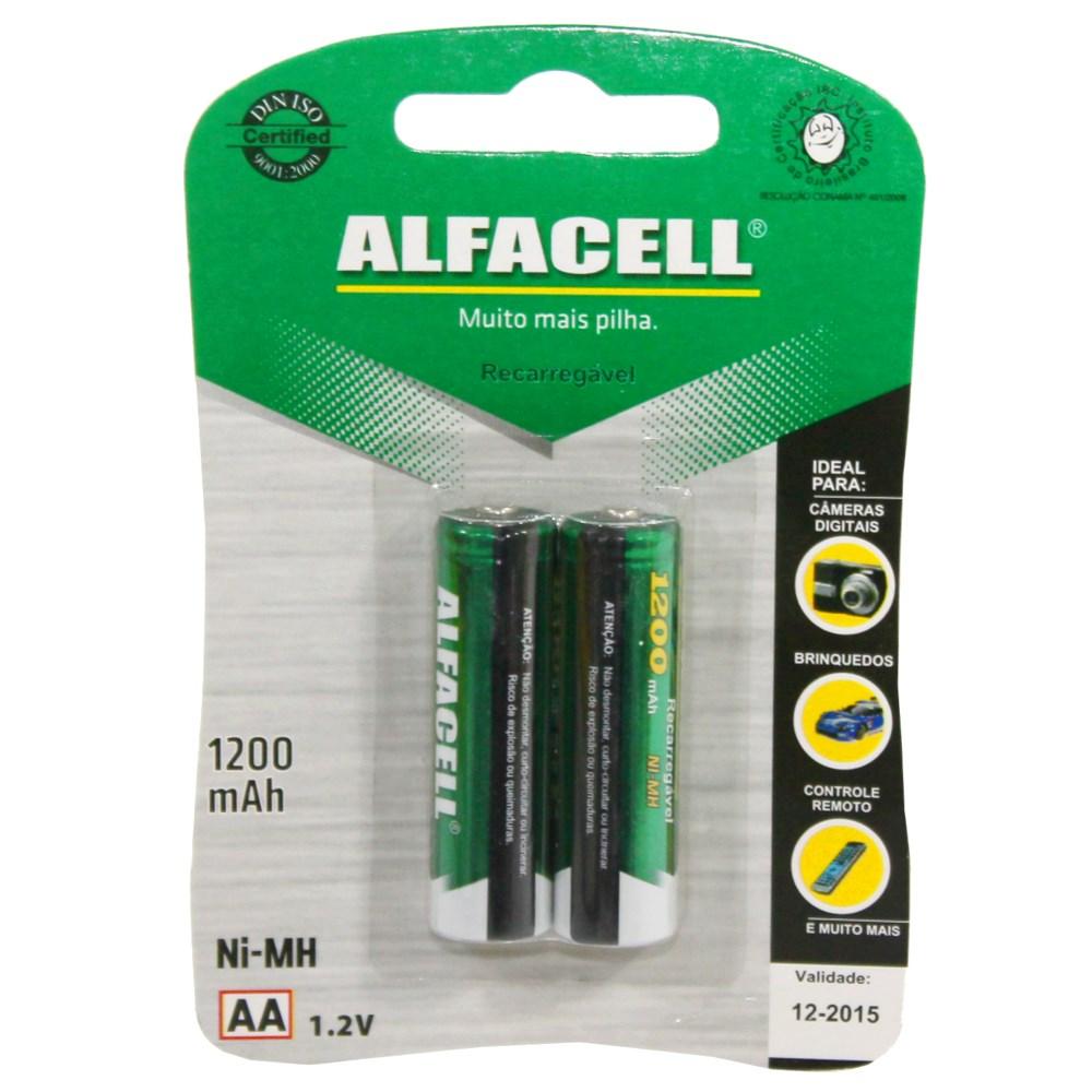 PILHA PEQUENA RECARR.ALFACELL1200 MAH CART.C/2 ALFACEL Ref: 27700
