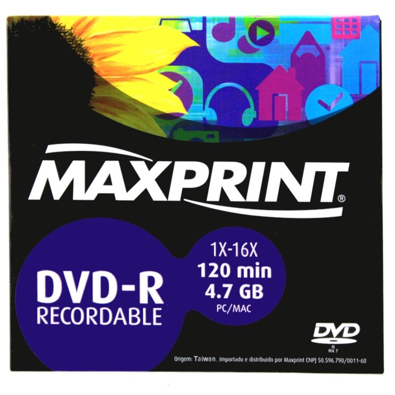 PDSHOP - PARANA DISTRIBUIDORA DE BRINQUEDOS LTDA - DVD-R GRAVAVEL 4,7 GB/120MIN.MAXPRINT 1X-16X