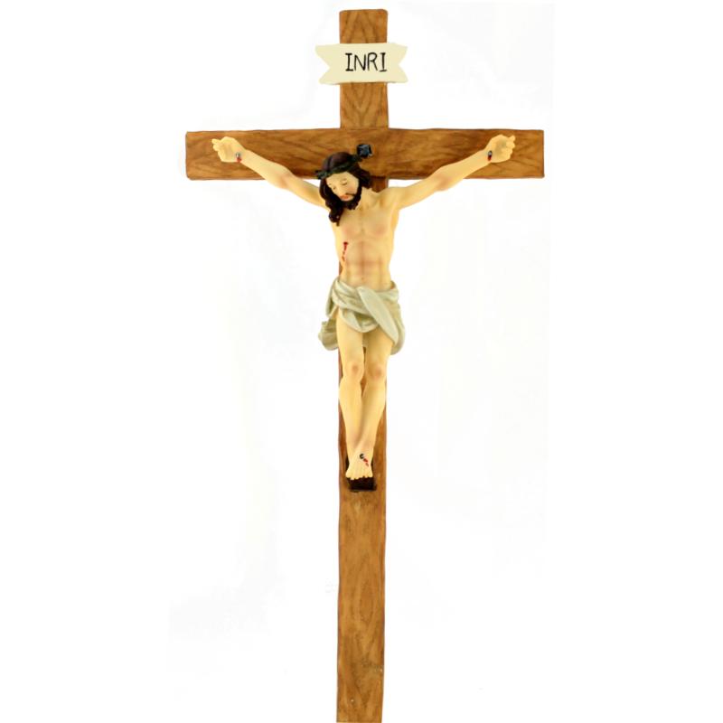Crucifixo resina de parede 33cm tascoinpot - Resina para paredes ...