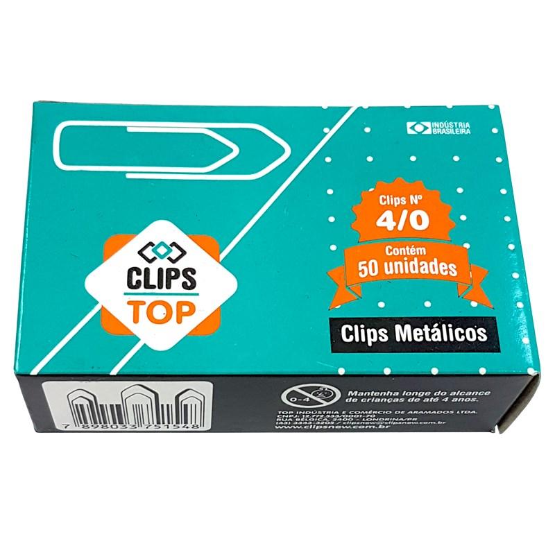 PDSHOP - PARANA DISTRIBUIDORA DE BRINQUEDOS LTDA - CLIPS ACO GALVANIZADO N.4/0 CLIPNEW
