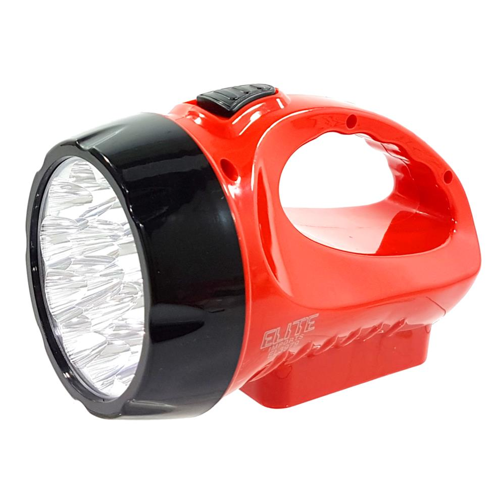 LANTERNA LED RECARREGAVEL PLÁSTICA 15 LEDS - ELITE IMPORTS Ref: 48744