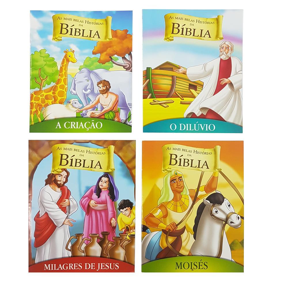 LIVRO AS MAIS BELAS HISTÓRIAS DA BIBLIA COM 10 PÁGINAS - BIC... Ref: 53695