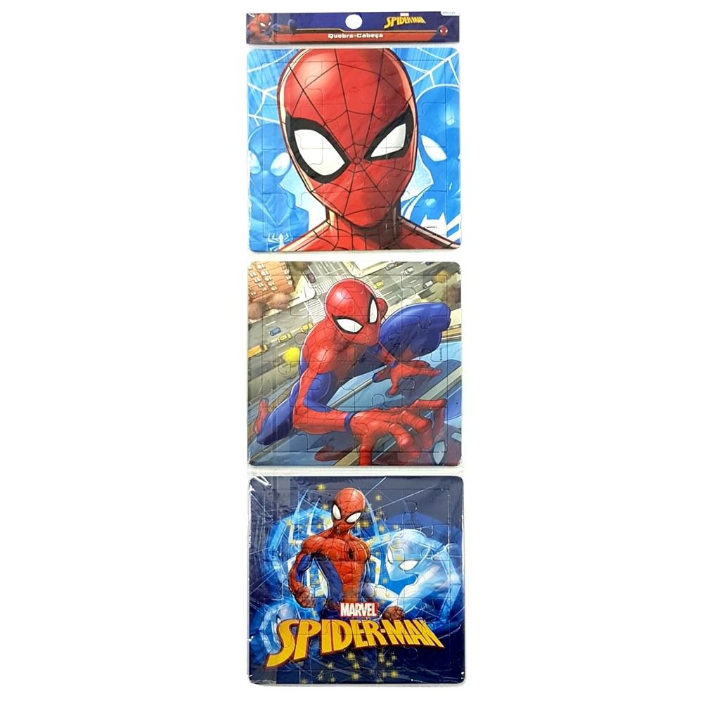 CONJUNTO QUEBRA CABECA SPIDER-MAN COM 3 MODELOS - ETITOYS Ref: 54440