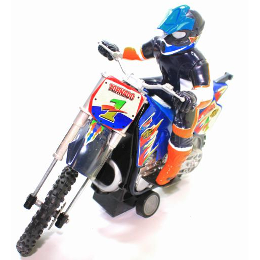 PDSHOP - PARANA DISTRIBUIDORA DE BRINQUEDOS LTDA - MOTO FRICCAO SUPER CROSS C/BONECO  CANDIDE